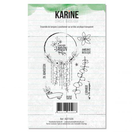 Tampon clear  Cercle bucolique- Les Ateliers de Karine