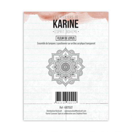 Tampon clear Esprit Bohème Fleur de lotus- Les Ateliers de Karine