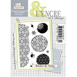 Tampon clear - Boules de Neige - L'Encre et l'Image