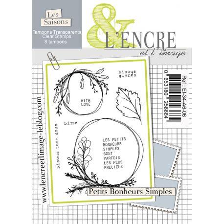 Tampon clear - Petits Bonheurs Simples - L'Encre et l'Image