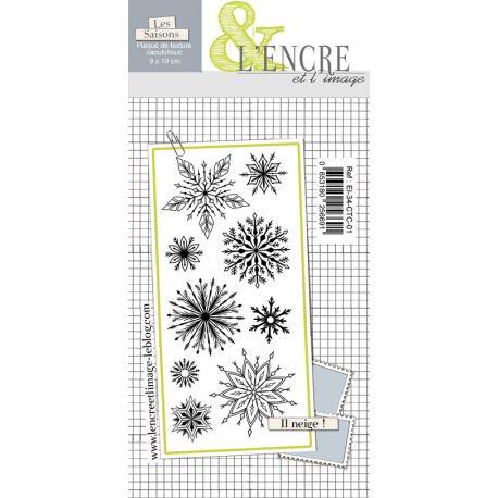 Unmounted texture rubberstamp sheet - Let it Snow - L'Encre et l'Image
