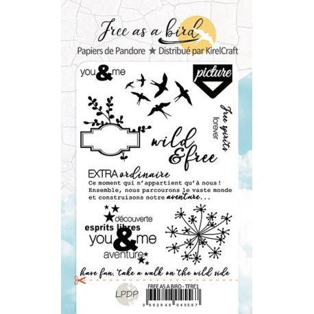 Clear stamp Free like a Bird- LPDP