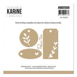 Dies Woodland Set étiquettes-Les Ateliers de Karine