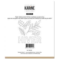 Sewing stencil Woodland Hiver, etc -Les Ateliers de Karine