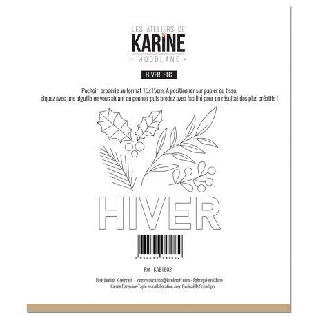 Pochoir Broderie Woodland Hiver, etc -Les Ateliers de Karine