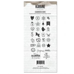 Clear Stamp Woodland Calendrier de l'Avent- Les Ateliers de Karine