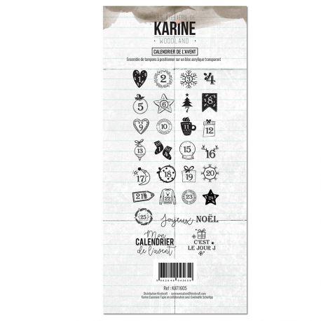 Tampon clear Woodland Calendrier de l'Avent- Les Ateliers de Karine