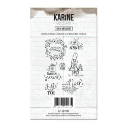 Clear Stamp Woodland Doux messages- Les Ateliers de Karine