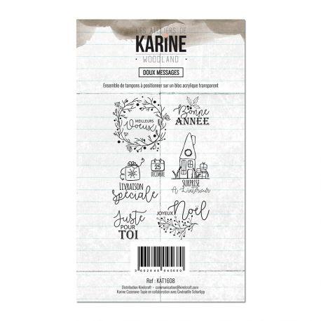 Clear Stamp Woodland Doux messages- Les Ateliers de Karine