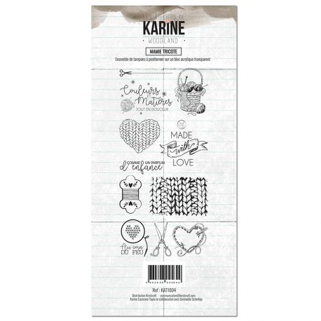 Clear Stamp Woodland Mamie tricote- Les Ateliers de Karine