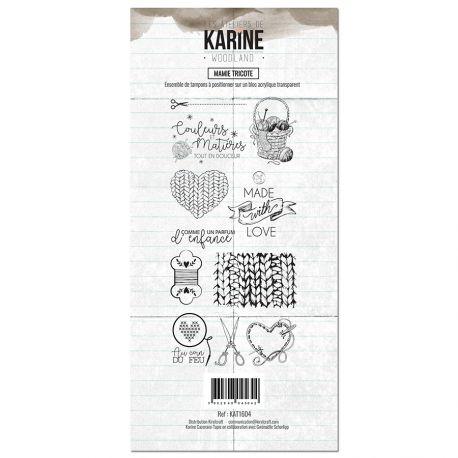 Tampon clear Woodland Mamie tricote- Les Ateliers de Karine