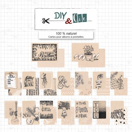 Cards for pockets Project Life : 100% Naturel