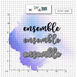 Dies et stamp Ensemble - DIY and Cie