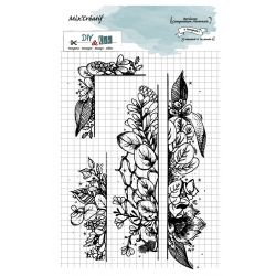 Tampon clear : Bordure composition hivernale - DIY and Cie