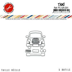 Matrices de découpe Taxi - Mes P'tits Ciseaux