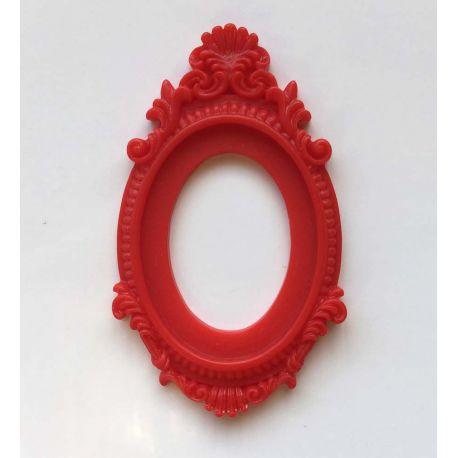 Cadre Baroque rouge