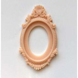 Cadre Baroque beige rosé foncé