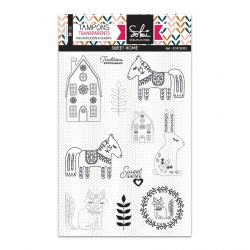 Clear stamps SO'Folk SWEET HOME  - SOKAI