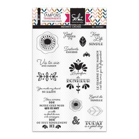 Clear stamps SO'Folk MOMENTS CHOISIS  - SOKAI