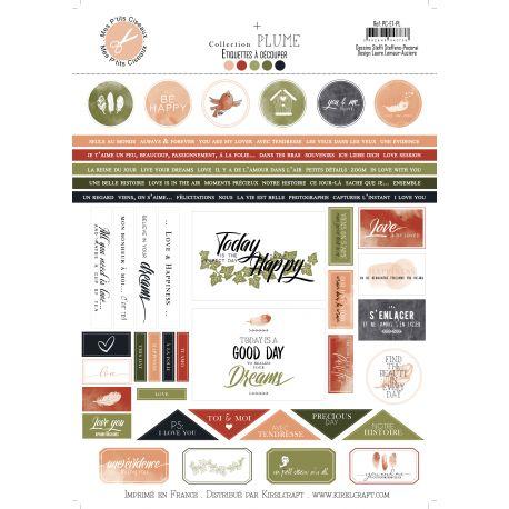 Plume labels - Mes Ptits Ciseaux