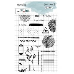 Clear stamps : Black and White - DIY and Cie