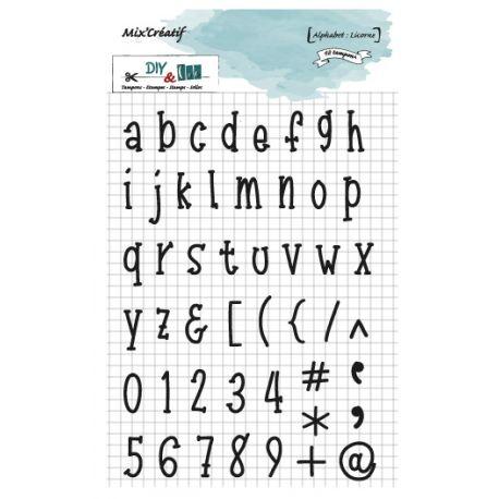 Tampon clear : Alphabet : Licorne - DIY and Cie