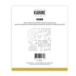 Pochoir Broderie Hey Baby Moon, etc -Les Ateliers de Karine