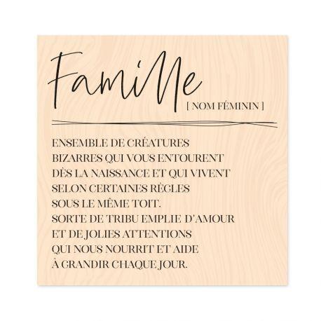 Tampon bois Hey Baby Définition Famille-Les Ateliers de Karine