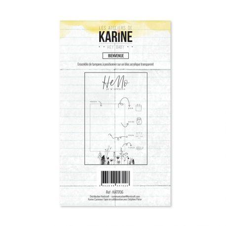 Tampon clear Hey Baby Bienvenue- Les Ateliers de Karine