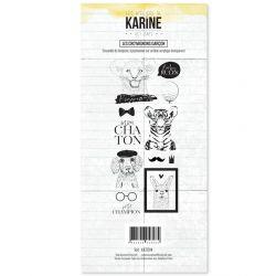Tampon clear Hey Baby Les Cro'mignons garçon- Les Ateliers de Karine