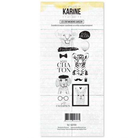Clear Stamp Hey Baby Les Cro'mignons garçon- Les Ateliers de Karine