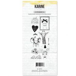 Clear Stamp Hey Baby Les Cro'mignons fille- Les Ateliers de Karine