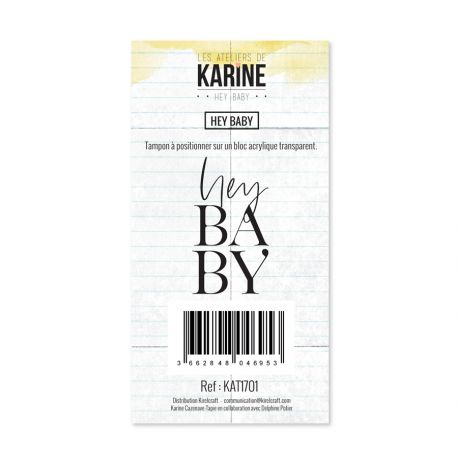 Tampon clear Hey Baby Hey Baby- Les Ateliers de Karine