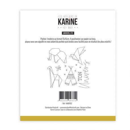 Pochoir Broderie Hey Baby Univers, etc -Les Ateliers de Karine