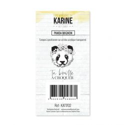 Clear Stamp Hey Baby Panda mignon- Les Ateliers de Karine