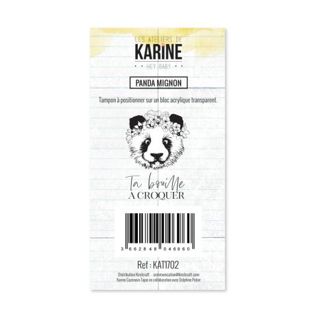 Tampon clear Hey Baby Panda mignon- Les Ateliers de Karine