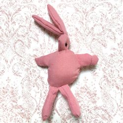 Pink fabric rabbit