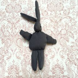 Grey fabric rabbit