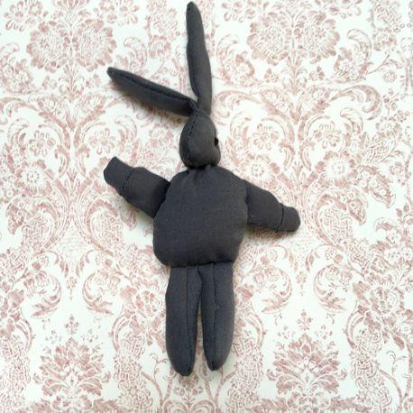 Grey fabric rabbit
