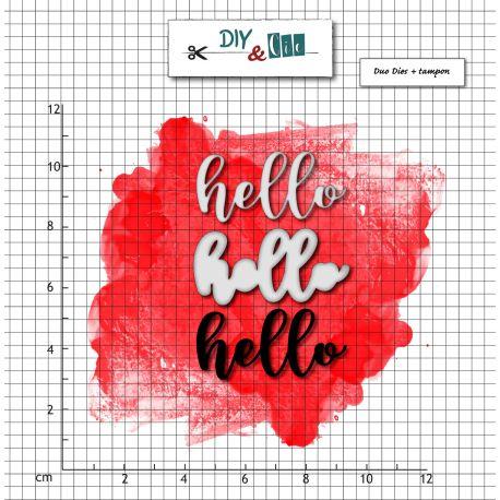 Dies et stamp Hello- DIY and Cie