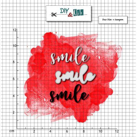 Dies et stamp Smile - DIY and Cie