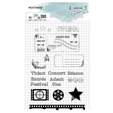 Tampon clear : Studio Ciné- DIY and Cie