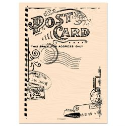 Wooden Stamp Carnet de Route Post Card -Les Ateliers de Karine