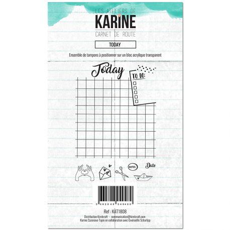 Tampon clear Carnet de route Today- Ateliers de Karine