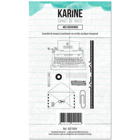 Tampon clear Carnet de route Mes souvenirs- Les Ateliers de Karine