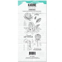Clear Stamp Carnet de route Passion fleurs- Les Ateliers de Karine