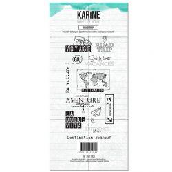 Tampon clear Carnet de route Road Trip- Les Ateliers de Karine
