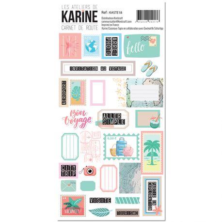 Carnet de Route -stickers étiquettes
