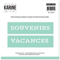 Dies Carnet de Route Souvenirs-Vacances -Les Ateliers de Karine