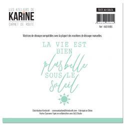 Die Carnet de Route Texte au soleil -Les Ateliers de Karine